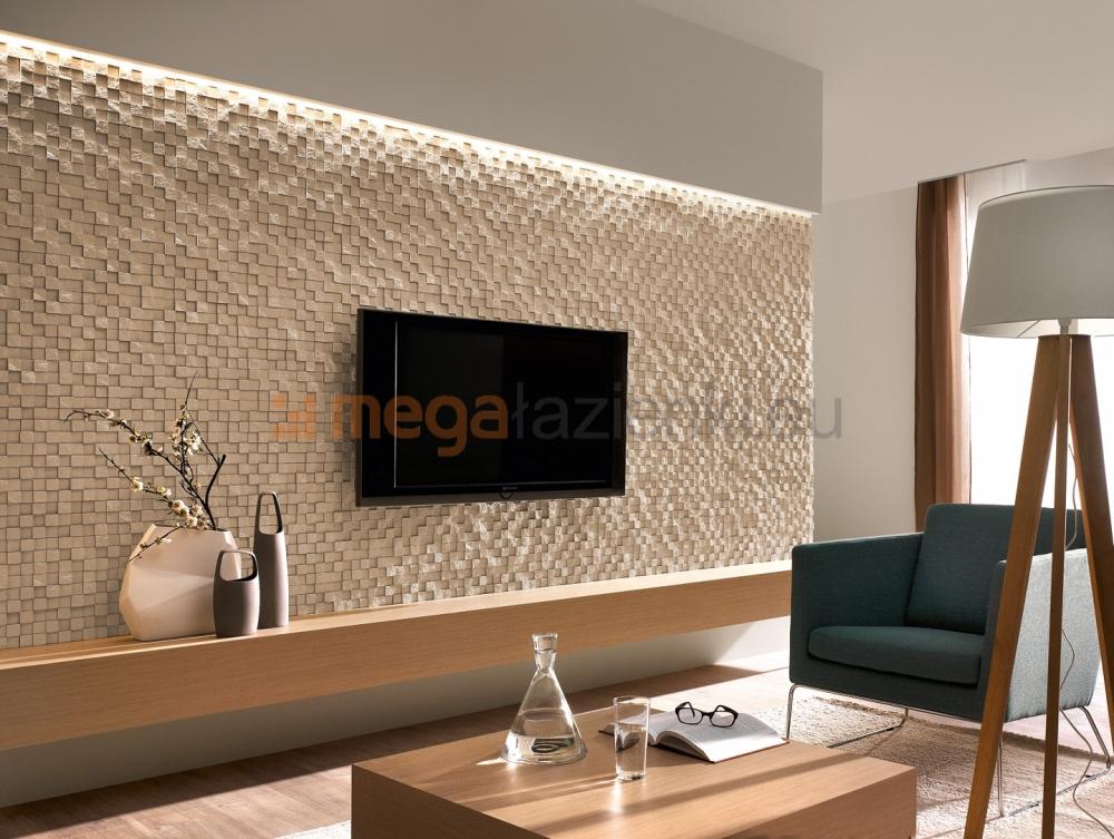 Riemchen Wand Wohnzimmer