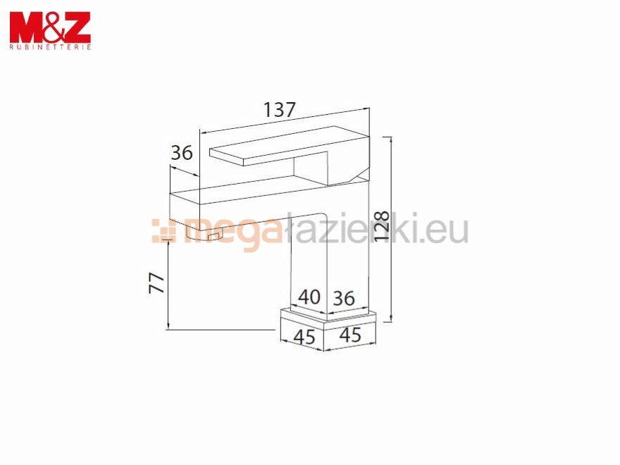 M&Z CINQUE bateria umywalkowa w kolorze czarny mat CNQ00218